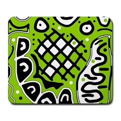 Green high art abstraction Large Mousepads