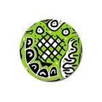 Green high art abstraction Magnet 3  (Round) Front