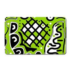 Green high art abstraction Magnet (Rectangular)