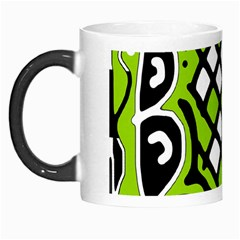 Green high art abstraction Morph Mugs