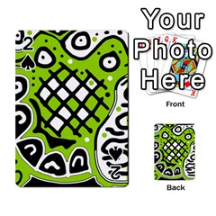 Green high art abstraction Playing Cards 54 Designs