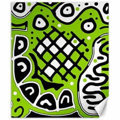 Green high art abstraction Canvas 8  x 10