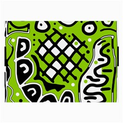 Green high art abstraction Large Glasses Cloth
