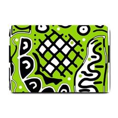 Green high art abstraction Small Doormat