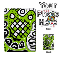Green high art abstraction Multi-purpose Cards (Rectangle)