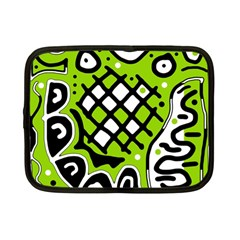 Green high art abstraction Netbook Case (Small)