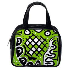 Green high art abstraction Classic Handbags (One Side)