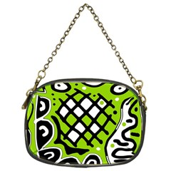 Green high art abstraction Chain Purses (One Side)