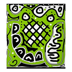 Green high art abstraction Shower Curtain 66  x 72  (Large)