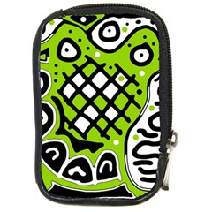 Green high art abstraction Compact Camera Cases
