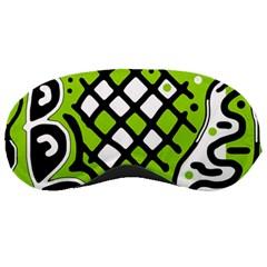 Green high art abstraction Sleeping Masks