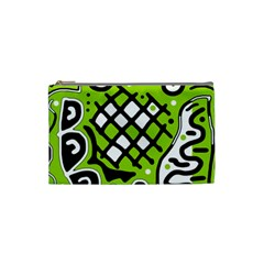 Green high art abstraction Cosmetic Bag (Small)