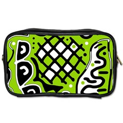 Green high art abstraction Toiletries Bags 2-Side