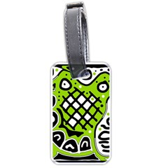 Green high art abstraction Luggage Tags (Two Sides)