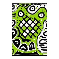 Green high art abstraction Shower Curtain 48  x 72  (Small)