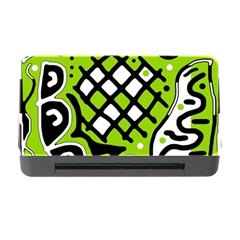 Green high art abstraction Memory Card Reader with CF