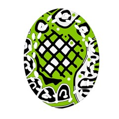 Green high art abstraction Ornament (Oval Filigree)
