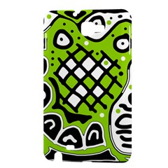 Green high art abstraction Samsung Galaxy Note 1 Hardshell Case