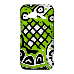 Green high art abstraction HTC Droid Incredible 4G LTE Hardshell Case