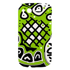 Green high art abstraction HTC Desire S Hardshell Case