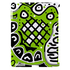 Green high art abstraction Apple iPad 3/4 Hardshell Case (Compatible with Smart Cover)
