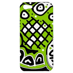 Green high art abstraction Apple iPhone 5 Hardshell Case