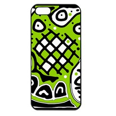 Green high art abstraction Apple iPhone 5 Seamless Case (Black)