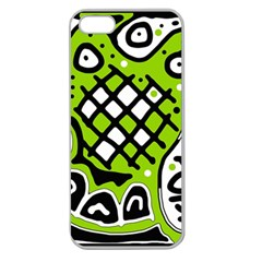 Green high art abstraction Apple Seamless iPhone 5 Case (Clear)