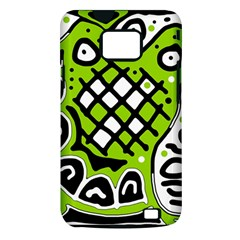Green high art abstraction Samsung Galaxy S II i9100 Hardshell Case (PC+Silicone)