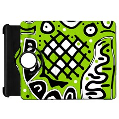 Green high art abstraction Kindle Fire HD Flip 360 Case