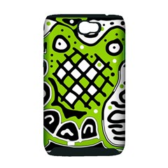 Green high art abstraction Samsung Galaxy Note 2 Hardshell Case (PC+Silicone)