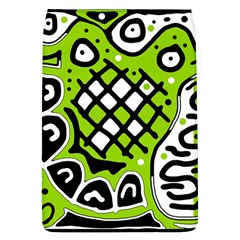 Green high art abstraction Flap Covers (L)