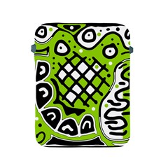 Green high art abstraction Apple iPad 2/3/4 Protective Soft Cases