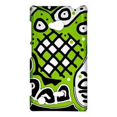 Green high art abstraction Nokia Lumia 720