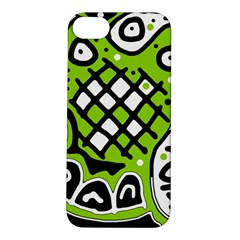 Green high art abstraction Apple iPhone 5S/ SE Hardshell Case
