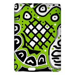 Green high art abstraction Amazon Kindle Fire HD (2013) Hardshell Case