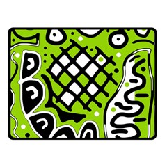 Green high art abstraction Double Sided Fleece Blanket (Small)