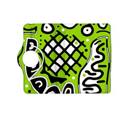 Green high art abstraction Kindle Fire HD (2013) Flip 360 Case