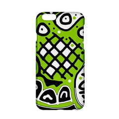 Green high art abstraction Apple iPhone 6/6S Hardshell Case