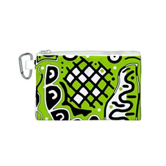 Green high art abstraction Canvas Cosmetic Bag (S)