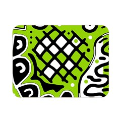 Green high art abstraction Double Sided Flano Blanket (Mini)
