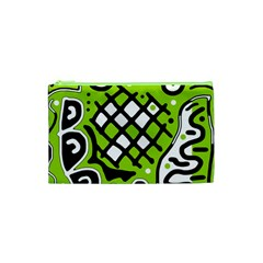Green high art abstraction Cosmetic Bag (XS)