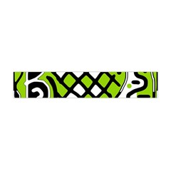 Green High Art Abstraction Flano Scarf (mini)