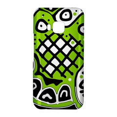 Green high art abstraction HTC One M9 Hardshell Case