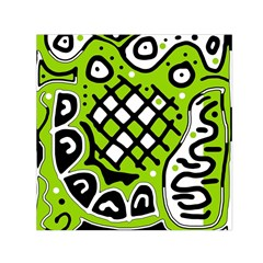 Green high art abstraction Small Satin Scarf (Square)