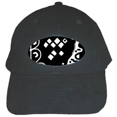 Black and white high art abstraction Black Cap