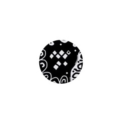 Black and white high art abstraction 1  Mini Buttons