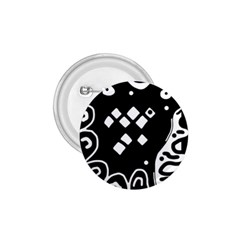 Black and white high art abstraction 1.75  Buttons