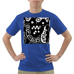 Black and white high art abstraction Dark T-Shirt