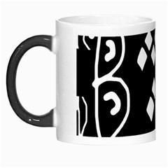 Black and white high art abstraction Morph Mugs